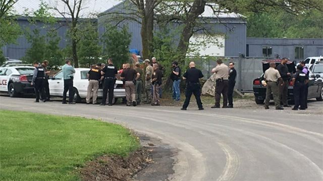 A large police presence was seen Wednesday morning in the 5500 block of Sugar Loaf Road (Credit: KMOV)