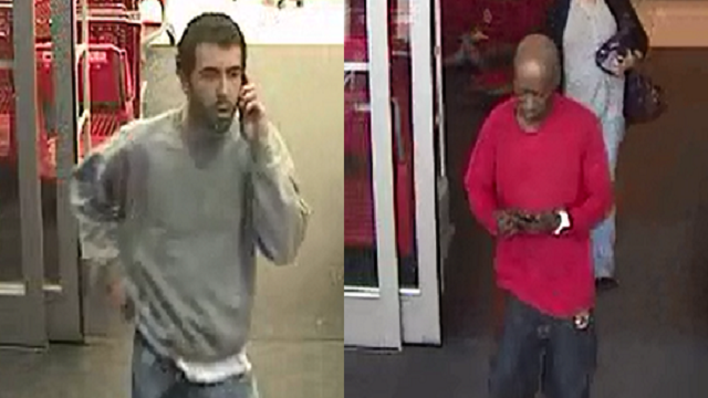 These are the two men suspected of shoplifting at the Town and Country Target location. (Credit: Town and Country Police Department)