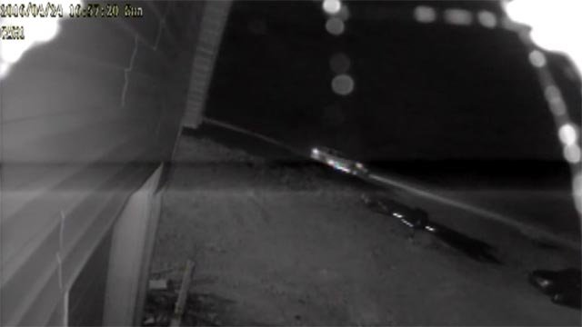 Surveillance video of a suspected hit-and-run on Highway 30 (Credit: Missouri Highway Patrol)