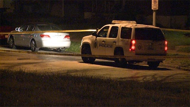A man in his 30s was found with multiple gunshot wounds on Plover Avenue Wednesday night (Credit: KMOV)