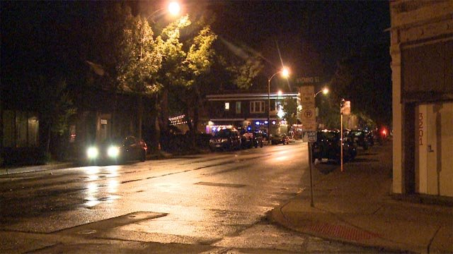 A man died after beings stabbed in the Tower Grove neighborhood Wednesday night (Credit: KMOV)
