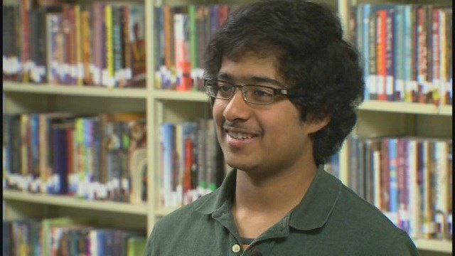 Aanjaneyaa Venkataraman attends MICDS. He won the St. Louis Post-Dispatch Spelling Bee to advance to the finals. (Credit: KMOV)