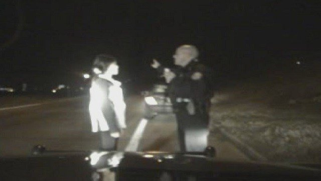 A police officer gives a field sobriety test. (Credit: St. Louis County Police Department)