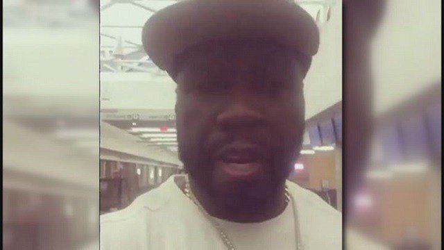 50 Cent making fun of a janitor who is autistic at the Cincinnati airport (Credit: 50 Cent Instagram).