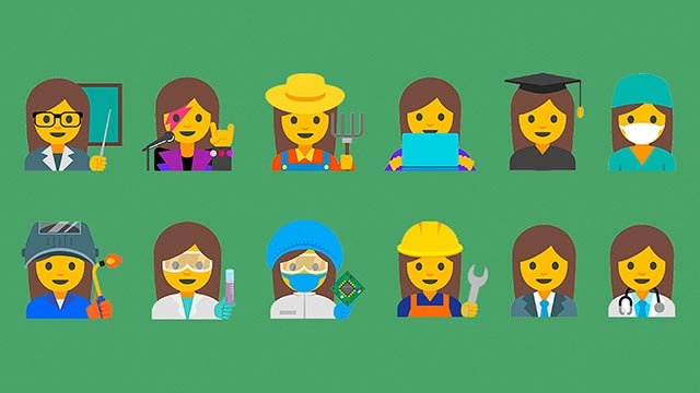 """Google has designed a new set of emojis depicting professional women to highlight """"the diversity of women's careers"""" and combat sexism."""