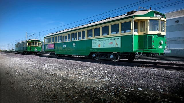 Vintage trolley car from Seattle (Credit: The Loop Trolley)