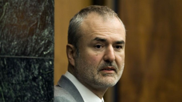 In this Wednesday, March 16, 2016, file photo, Gawker Media founder Nick Denton arrives in a courtroom in St. Petersburg, Fla.  (AP Photo/Steve Nesius, Pool, File)