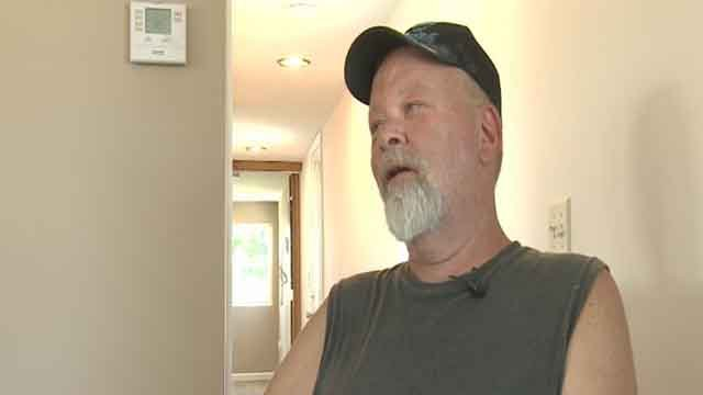Veteran Kenneth Holtz gets help from local businesses to finish renovations to his home after being scammed by a contractor (Credit: KMOV).