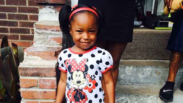 This girl, 3, was shot in the leg while in her father's car. The father says it was an act of road rage. Credit: KMOV