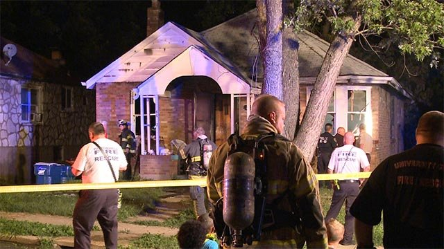 A person was found dead following a two-alarm fire in Velda City Thursday (Credit: KMOV)