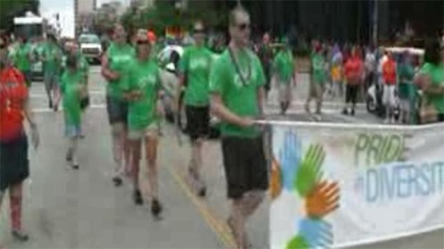 Image from the Pride parade (Credit: KMOV)