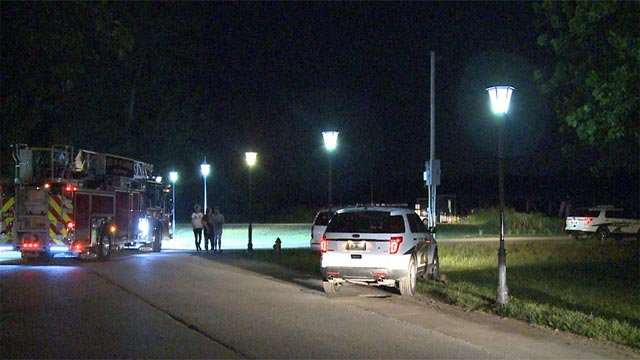 Emergency crews were called to the 920 block of Riverside Drive after a man jumped into the water Friday (Credit: KMOV)
