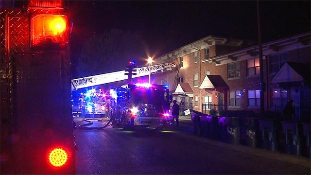 A building located in the 1600 block of Carr caught fire around 2 a.m. Tuesday (Credit: KMOV)