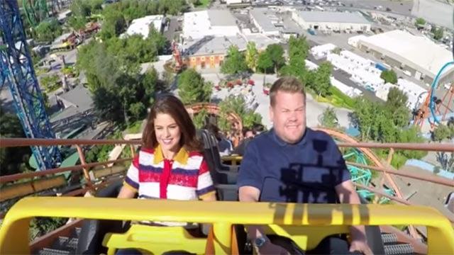 Selena Gomez & James Corden during a 'Carpool Karaoke' segment (Credit; The Late Late Show with James Corden / YouTube)