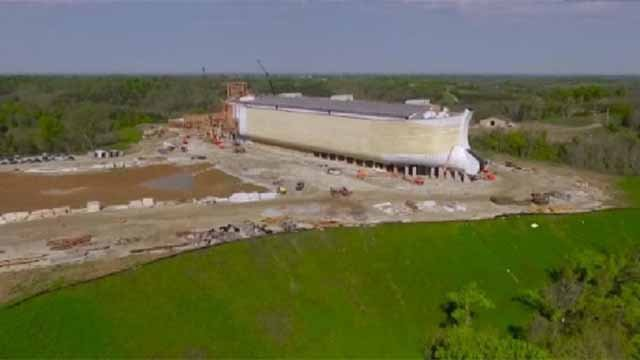 A life size Ark being built in Kentucky is controversial because some believe tax break given to the project violate the First Amendment. Credit: CNN