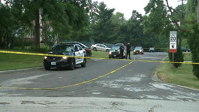 A man was shot near Riverview Gardens High School Wednesday morning (Credit: KMOV)