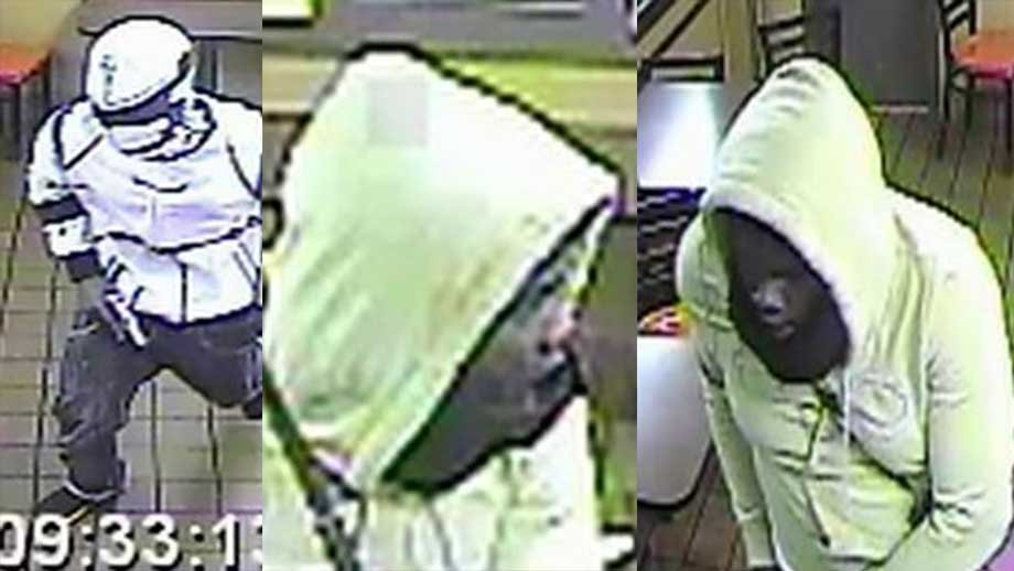 Police released photos of two men wanted for armed robbery in fast food restuarant in June. Credit:St. Louis Metropolitan Police Department