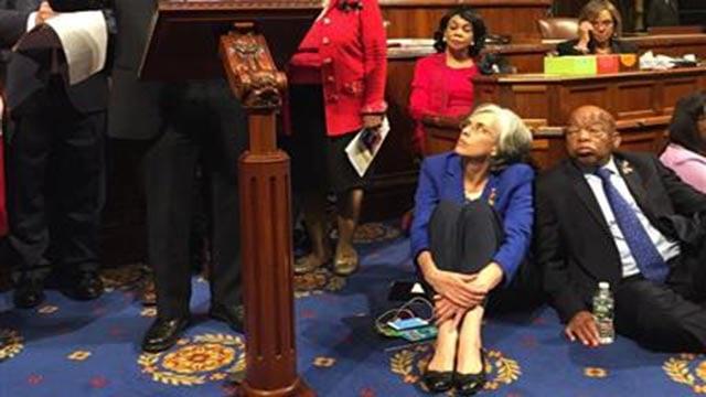 (Rep. Suzanne Bonamici via AP). This photo provided by Rep.Suzanne Bonamici, D-Ore. shows Democrat members of Congress