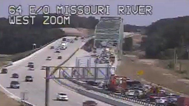 An accident closed the westbound lanes of I-64 on the Boone Bridge Thursday (MoDOT)