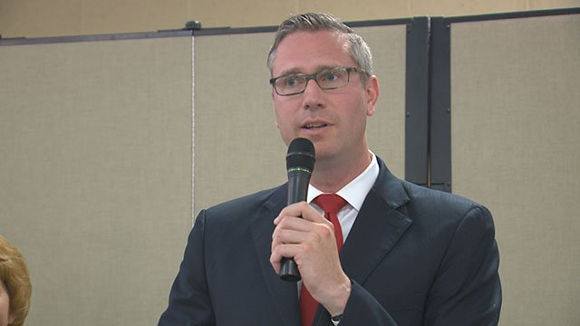 Illinois State Treasurer, Michael Frerichs, gave a warning in the Metro East about life insurance companies that are not paying out death claims (Credit: KMOV).