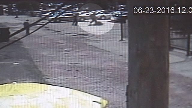 Incident caught on surveillance camera (Credit: St. Louis Auto Park)