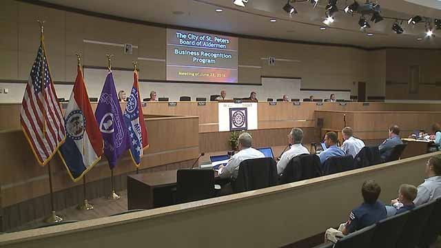 A meeting of the St. Peters Board of Aldermen. Credit: KMOV