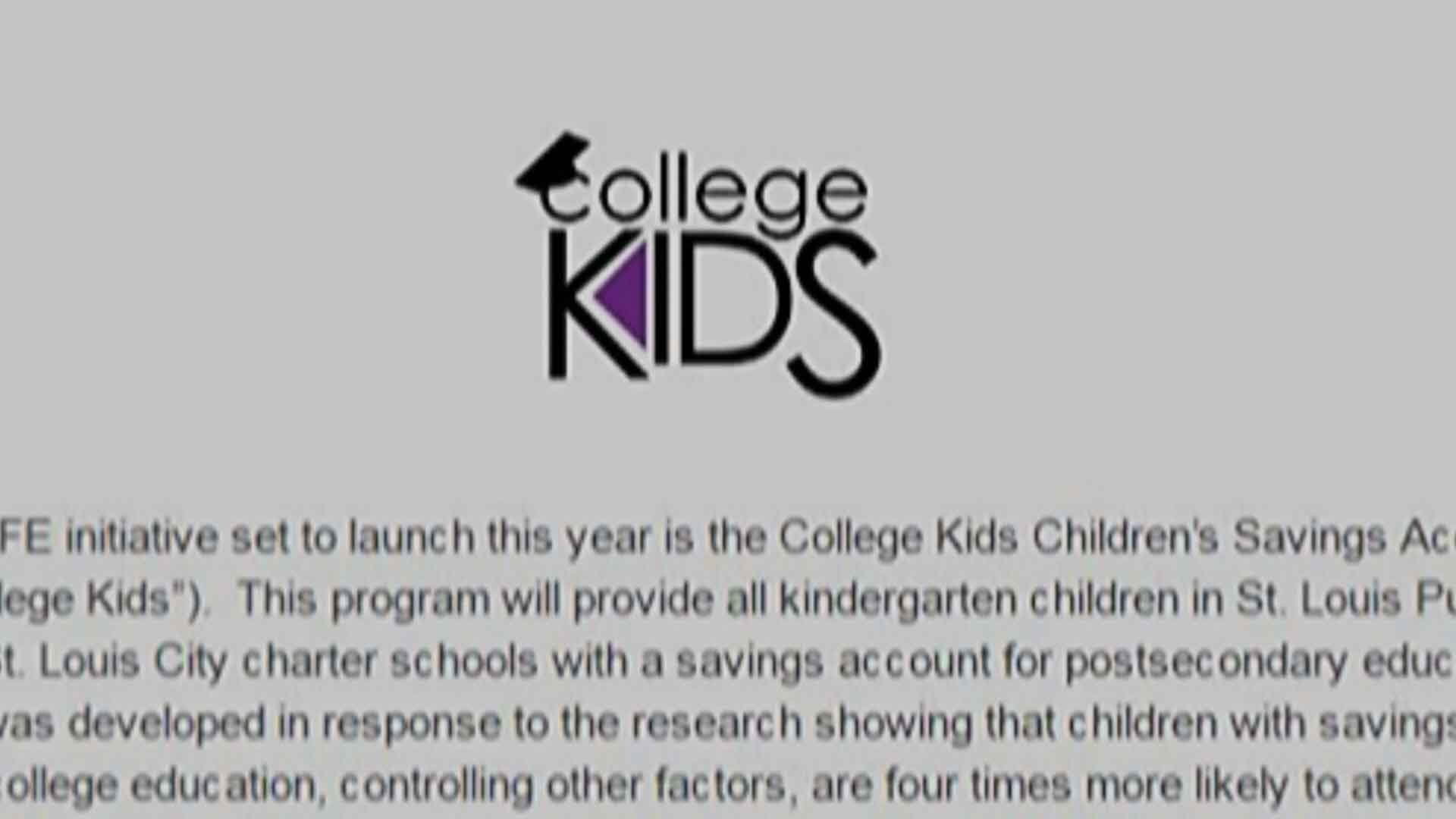 A program meant to help pay for college expenses of children in St. Louis City was recently cut. Credit: KMOV