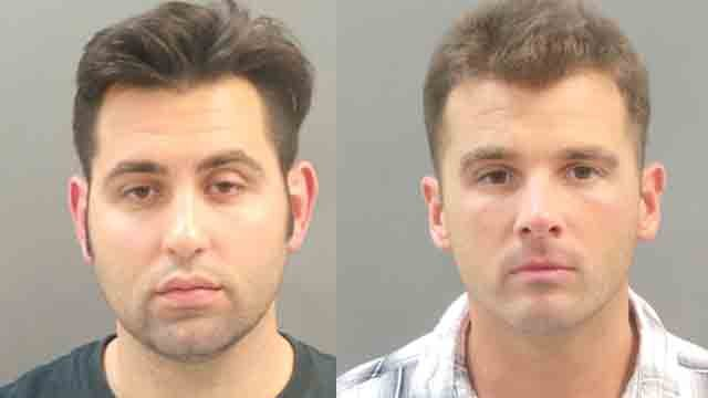 Ragain and Reed have been accused of a hate crime after they allegedly threw eggs at people waiting at bus stops.