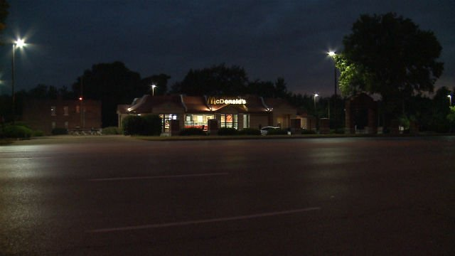 A McDonald's in Hazelwood was robbed Monday morning (Credit: KMOV)