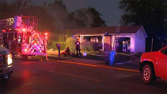 A home in the 600 block of South Duchesne in St. Charles caught fire Tuesday (Credit: KMOV)