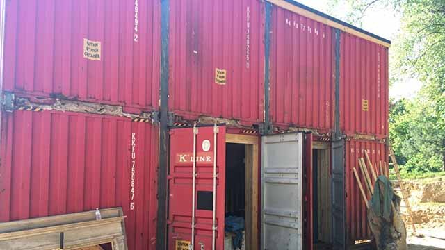 A couple is building a house in St. Charles made out of shipping containers, but officials may change zoning laws that would make such homes illegal. Credit: KMOV