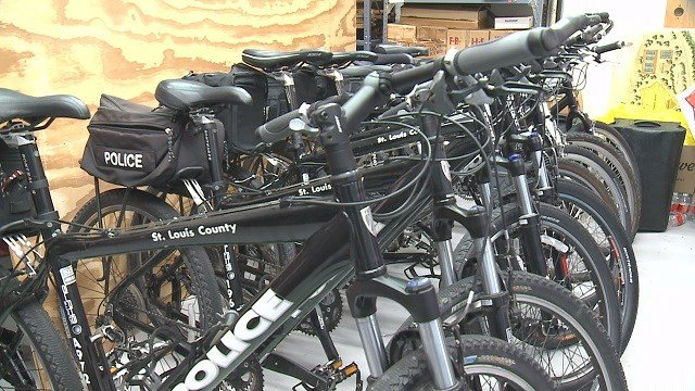 Bicycles for the St. Louis County Police Department Bike Patrol (Credit: KMOV).