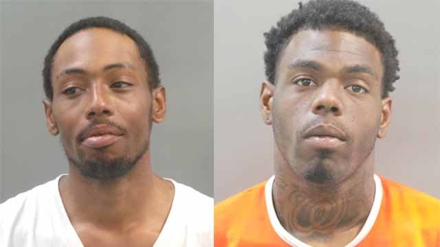 Calvin Harris, 25, and Northa Harris, 24 are accused of fatally shooting a man and wounding a woman near  Farragut Elementary School in north St. Louis. Credit: SLMPD