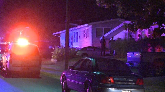 A man was stabbed and killed outside a home in Ferguson Friday (Credit: KMOV)