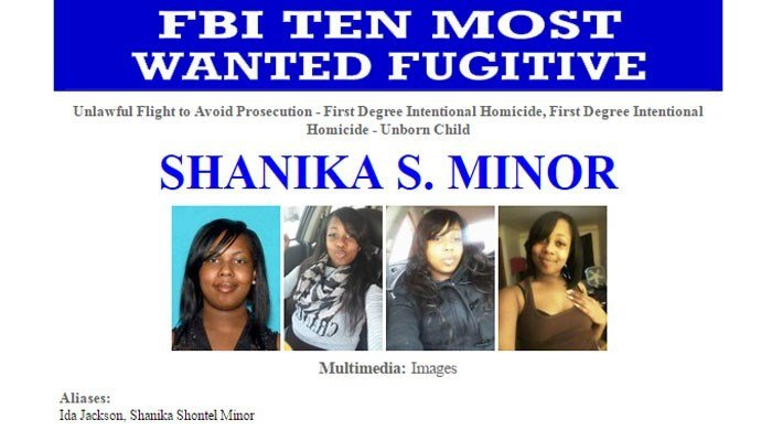 The FBI is seeking a Wisconsin woman, Shanika S. Minor, in the killing of a pregnant woman and her unborn child. (Source: FBI/CNN)