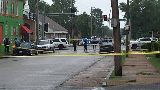 3 people were shot and 2 were killed in a shooting in the 4200 block of W. Page on July 4. Credit: KMOV