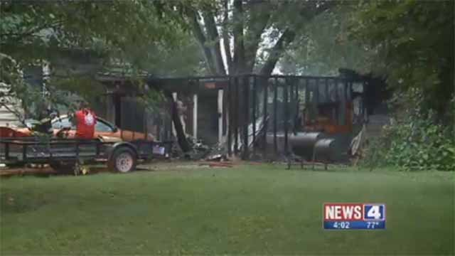 A home caught on fire in Belleville on July 3 when the homeowner shot off fireworks and threw away the remains, which were still smoldering. Credit: KMOV