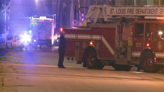 Two women were fatally struck by a train at Manchester and Kingshighway (Credit: KMOV)