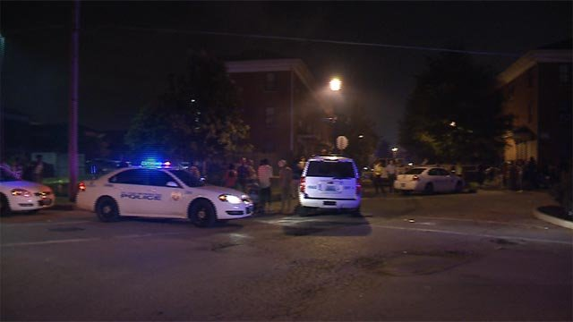 A man was killed and another was injured during a shooting in the 1400 block of Lasalle Lane Monday (Credit: KMOV)