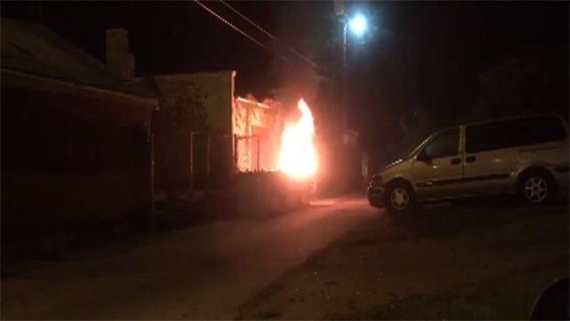 The St. Louis Fire Department tweeted a video of a dumpster fire in the 5100 block of Vernon on July 4 (Credit: St. Louis Fire Department)