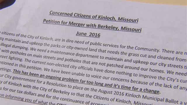 A former Mayor of Kinloch is pushing for his town to dissolve and merge with nearby Berkeley. Credit: KMOV