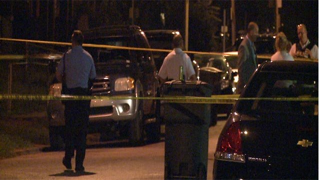 A man and woman were shot in the 4800 block of Hammett Place around 12:30 a.m. Wednesday (Credit: KMOV)