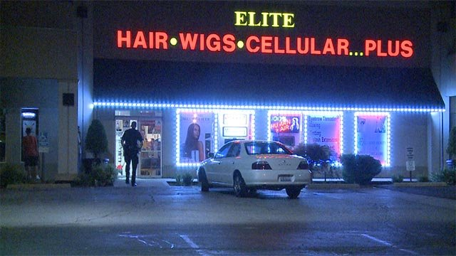 The beauty supply store, located on West Highway 50 in O'Fallon, was burglarized Wednesday (Credit: KMOV)