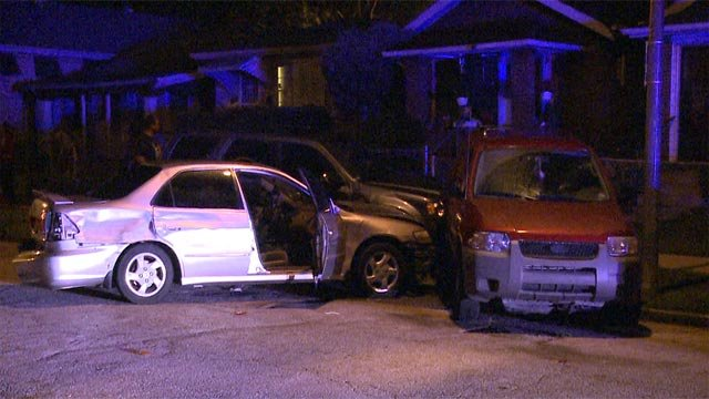 Vehicle damage in the 5900 block of Sherry Thursday (Credit: KMOV)