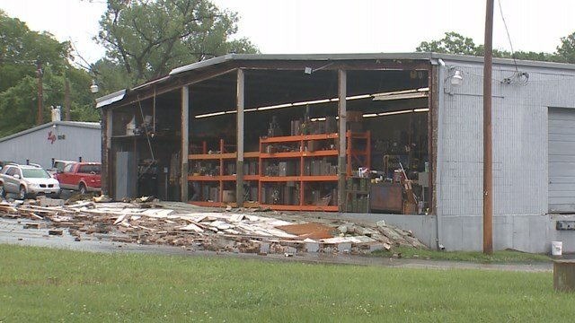 Mac Molding in Sunset Hills suffered extensive storm damage. (Credit: KMOV).