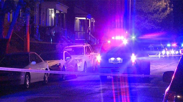 A woman was killed and two people were injured after being shot in the 3800 block of Folsom Friday (Credit: KMOV)