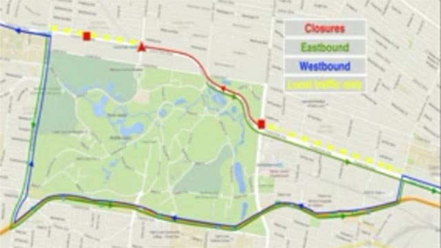 Map of Loop Trolley construction closures (Credit: Loop Trolley Construction Project)
