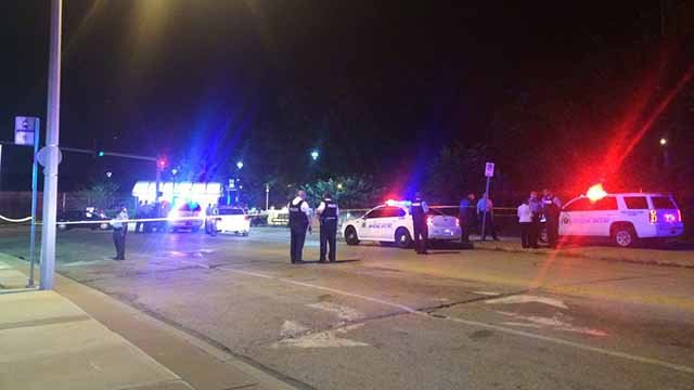 A teen was shot during a fight that broke out at the Delmar Loop MetroLink station Monday night. Credit: KMOV