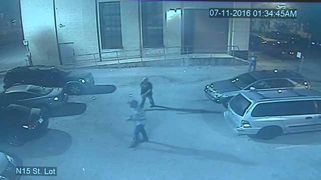 Several teens were caught on camera trying to break into several cars at St. Louis Auto in downtown St. Louis. Credit: KMOV