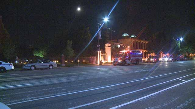 A man was robbed and shot on Lindell near SLU early Friday morning. Credit: KMOV